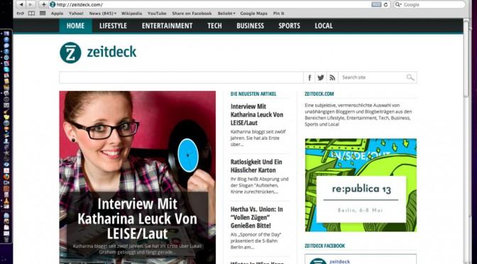 Zeitdeck.com-Interview mit LEISE/laut