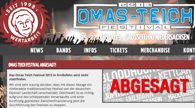 Omas Teich Festival abgesagt – Wütende Fans – Klare Worte vom Jupiter Jones-Sänger