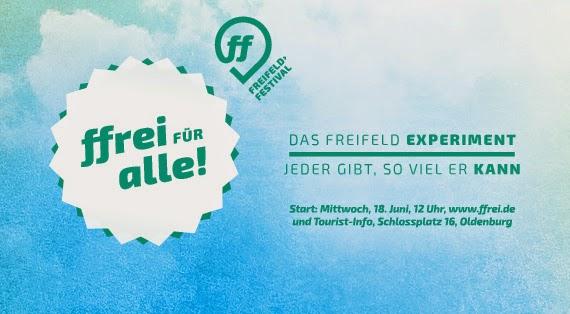 Freifeld Festival Oldenburg ffrei für alle: Besucher können Ticketpreis selbst bestimmen