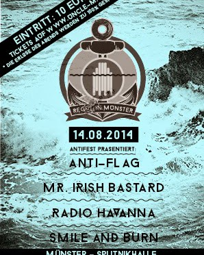 Regen in Münster: Alternative Benefiz-Show u.a. mit Anti-Flag, Radio Havanna & Mr. Irish Bastard