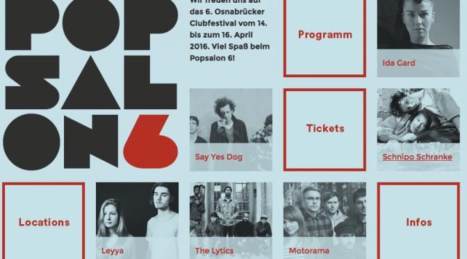 Popsalon 6: Ein paar Tipps fürs Clubfestival in Osnabrück