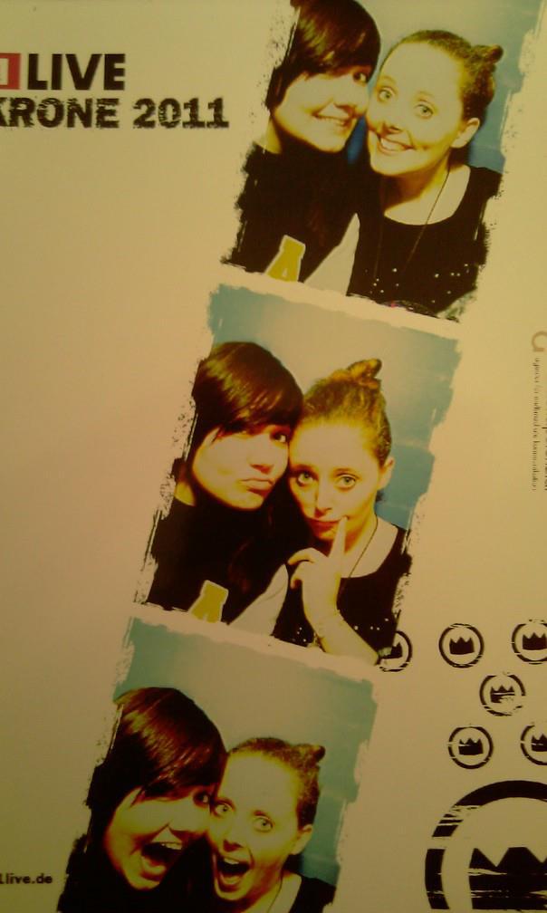 Alex und Katha im Fotoautomat bei der 1Live Krone Aftershow Party 2011.