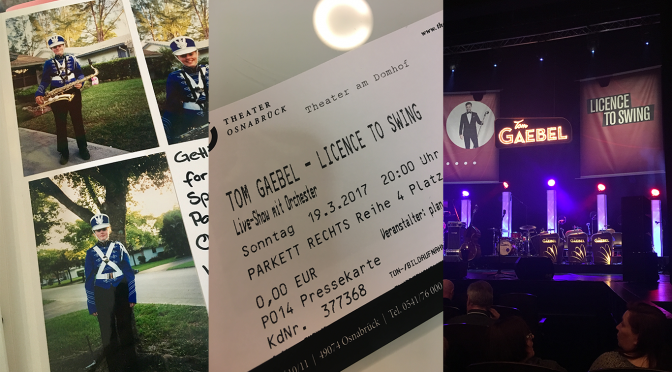 Tom Gaebel mit Licence to Swing in Osnabrück – Marching Band Flashbacks